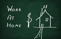 Work at home Royalty Free Stock Image