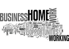Work At Home Business Opportunities Thrive In Tight Job Market Word Cloud Stock Photography