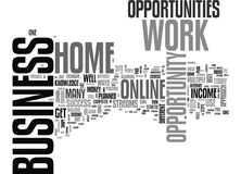 Work At Home Business Opportunity A Step By Step Approach Word Cloud. WORK AT HOME BUSINESS OPPORTUNITY A STEP BY STEP APPROACH TEXT WORD CLOUD CONCEPT Royalty Free Stock Photos