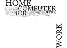 Work At Home Computer Jobs Word Cloud Royalty Free Stock Photo