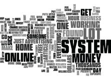 Work At Home An Hour A Day And Make Thousands Word Cloud Stock Photography