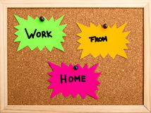 Work from home. New concept of working from home Royalty Free Stock Photos