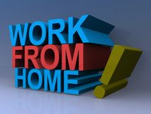 Work from home sign Stock Image