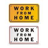 Work from home signs Stock Image