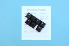 Work At Home spelled out in Keyboard keys Royalty Free Stock Image
