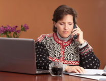 Work from Home Woman Stock Photography
