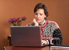 Work from Home Woman Royalty Free Stock Photos
