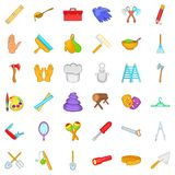 Work icons set, cartoon style Stock Photo