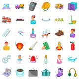Work icons set, cartoon style Royalty Free Stock Images