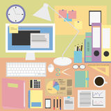 Work icons set great for any use. Vector EPS10. Royalty Free Stock Images