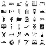 Work icons set, simple style Royalty Free Stock Photos