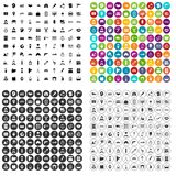 100 work icons set vector variant. 100 work icons set vector in 4 variant for any web design isolated on white Stock Illustration