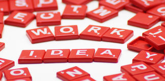 Work idea word with crossword Royalty Free Stock Photography