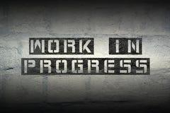 Work In Progress Gr Stock Photos