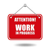 Work In Progress Sign Royalty Free Stock Photo
