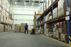 Work In Warehouse Royalty Free Stock Photo