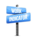 Work indicator road sign illustration design Royalty Free Stock Images