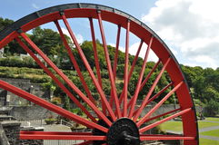 Laxey Whell, Isle Of Man. This work of the industrial era called Lady Isabella was built in 1854 to pump the water of mine shafts Laxey. Appearance Laxey was the Royalty Free Stock Photography