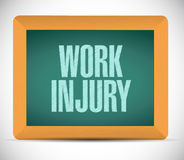 Work injury board sign illustration design. Over a white background Royalty Free Stock Photos