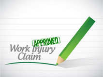 Work injury claim approved illustration design Royalty Free Stock Photography