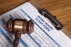 Work Injury claim form Royalty Free Stock Photo