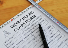 Work injury claim form Royalty Free Stock Photography