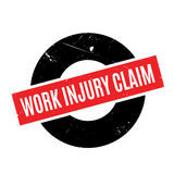 Work Injury Claim rubber stamp. Grunge design with dust scratches. Effects can be easily removed for a clean, crisp look. Color is easily changed Stock Images