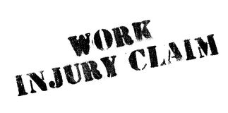Work Injury Claim rubber stamp. Grunge design with dust scratches. Effects can be easily removed for a clean, crisp look. Color is easily changed Royalty Free Stock Photography