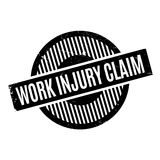 Work Injury Claim rubber stamp. Grunge design with dust scratches. Effects can be easily removed for a clean, crisp look. Color is easily changed Royalty Free Stock Images