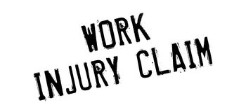 Work Injury Claim rubber stamp. Grunge design with dust scratches. Effects can be easily removed for a clean, crisp look. Color is easily changed Stock Image
