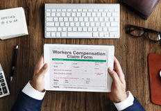 Work Injury Compensation Claim Form Concept Stock Photos