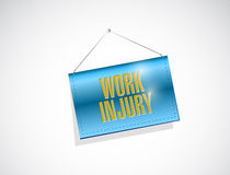 Work injury hanging banner illustration Royalty Free Stock Images