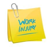 Work injury memo post illustration design Stock Photo