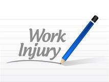 Work injury message sign illustration Stock Photo