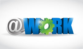 Work internet concept text illustration Stock Photography