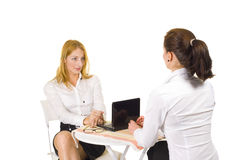 Work interview Royalty Free Stock Photo