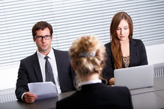 Work interview Royalty Free Stock Image