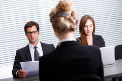 Work interview Stock Image