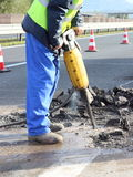 Work with jackhammer Stock Image