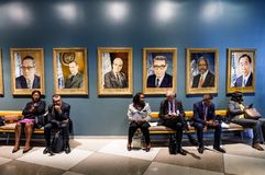 Work of journalists during the UN General Assembly Royalty Free Stock Photo