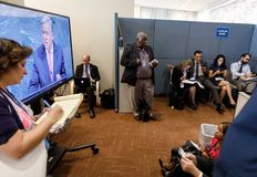Work of journalists during the UN General Assembly Stock Image