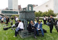 Work of journalists during the UN General Assembly Royalty Free Stock Image
