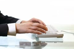 Work on keyboard Royalty Free Stock Photos