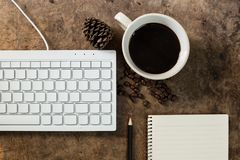 Work with the keyboard royalty free stock image