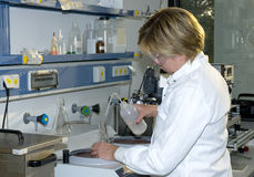 Work in laboratory Stock Images