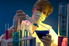Work in the laboratory Royalty Free Stock Images