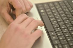 Work for a laptop Royalty Free Stock Photo