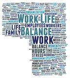 Work Life Balance. Word Collage of Work and Life Balance, space for your own text Royalty Free Stock Photography