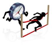 Work Life Balance Clock Race Concept Royalty Free Stock Images