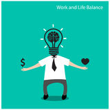 Work and life balance concept Royalty Free Stock Photos